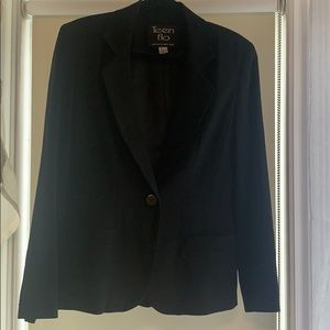Classic black jacket and skirt set